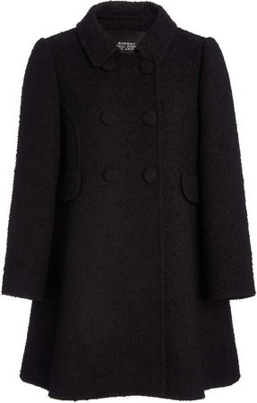 Marc Jacobs Double-Breasted Wool-Blend Collared Peacoat