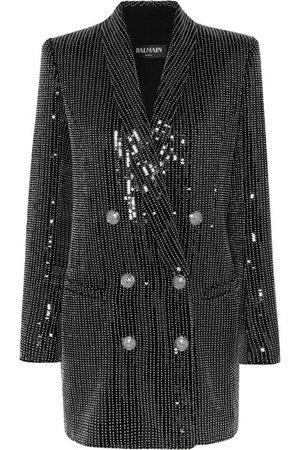 Balmain | Embellished crepe mini dress | NET-A-PORTER.COM