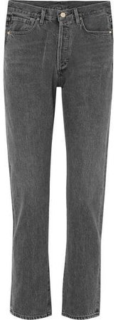 Benefit High-rise Straight-leg Jeans - Charcoal