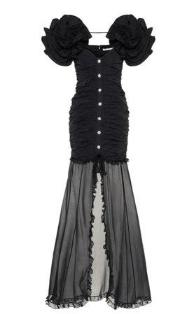Alessandra Rich Taffeta Maxi Dress