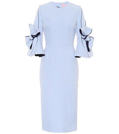 Lavete stretch crêpe dress