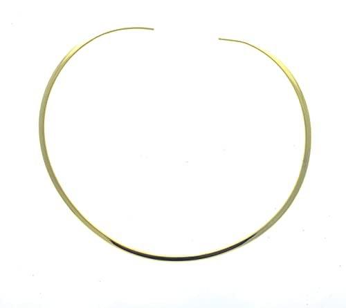 Amazon.com: Shiny Gold Round 4mm Choker Collar Necklace Wire Women's Jewelry (CS13): Jewelry