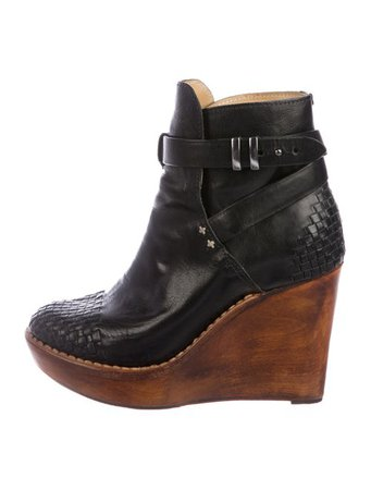 Rag & Bone Woven Wedge Boots - Shoes - WRAGB145720 | The RealReal