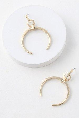 Boho Gold Earrings - Crescent Earrings - Statement Earrings - Lulus