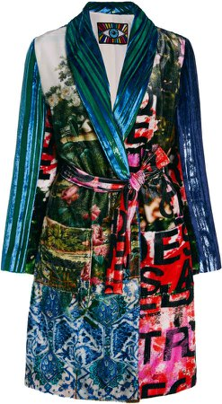 Libertine Mixed Velvets Robe Coat