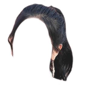 Dark Brown Hair PNG black ponytail
