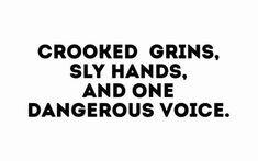 Grins, Hands, Voice text