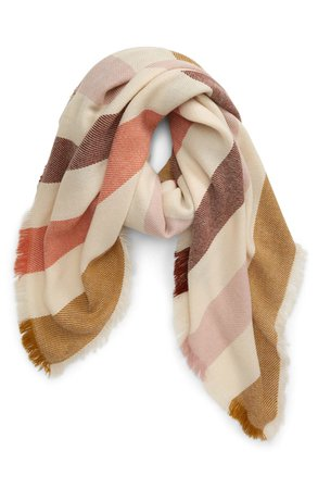 Madewell Bold Stripe Blanket Square Scarf (Nordstrom Exclusive) | Nordstrom