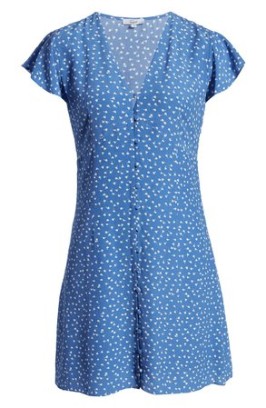 Rails Helena Floral Minidress blue