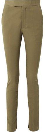 Stretch-cotton Twill Skinny Pants - Army green