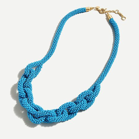 J.Crew: Beaded Chain Link Rope Necklace For Women
