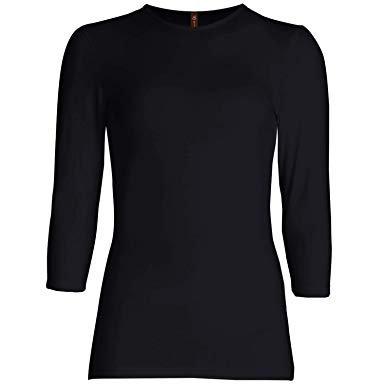 black 3/4 sleeve tshirt