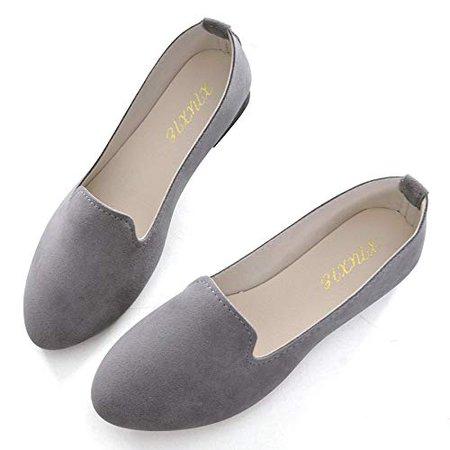 Amazon.com   Slduv7 Women Pointed Comfortable Flat Ballet Shoes Black 41(8.5)   Flats
