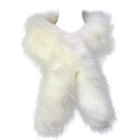 fur scarf white