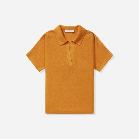 Women's Cotton–Merino Polo | Everlane yellow