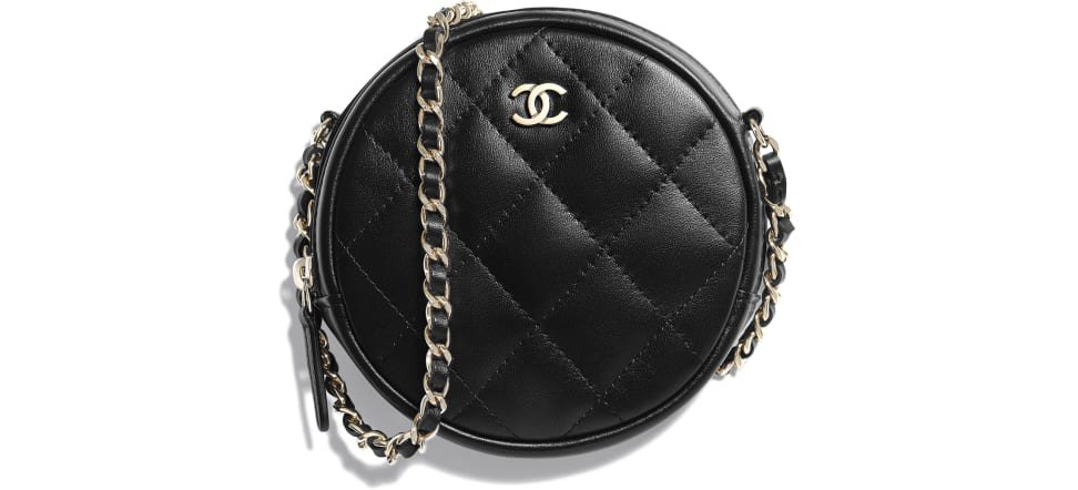 Classic Clutch with Chain, lambskin & gold-tone metal., black. - CHANEL