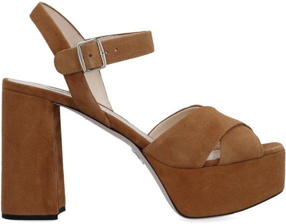 Crossover Platform Sandals