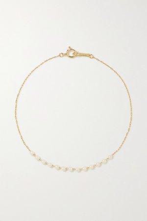 Gold 14-karat gold pearl bracelet   Mizuki   NET-A-PORTER