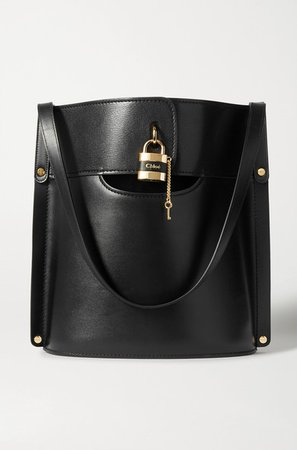 Chloé | Aby smooth and textured-leather tote | NET-A-PORTER.COM