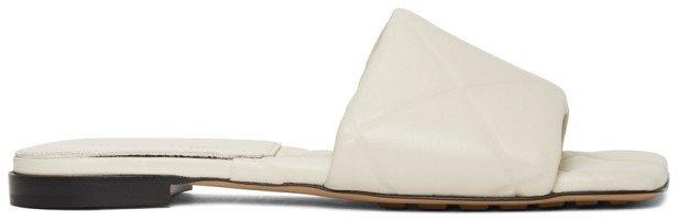White Lido Flat Sandals