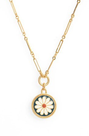 Madewell Daisy Delight Enamel Pendant Necklace | Nordstrom