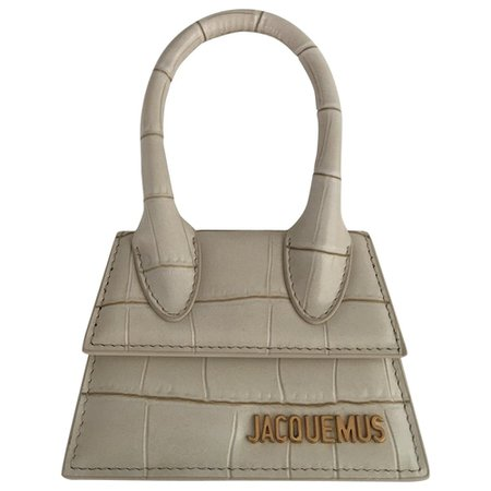 Chiquito leather handbag Jacquemus White in Leather - 8352561