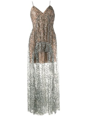 Shop Self-Portrait sequin embroidered dress with Afterpay - Farfetch Australia