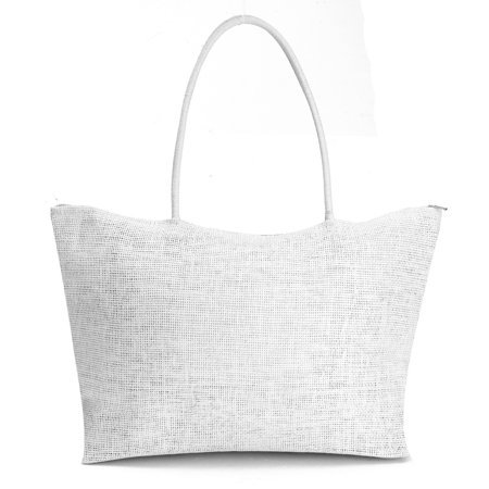 New Womens Casual Straw Weave Shoulder Tote Shopping Beach Bag Purse Travel Handbag Zippered Bag - Walmart.com