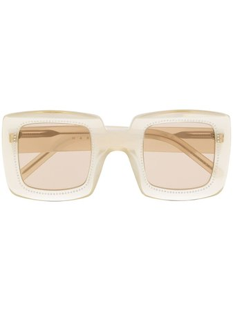 Shop Marni Eyewear oversize square sunglasses with Express Delivery - Farfetch