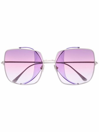 TOM FORD Eyewear oversize square-frame sunglasses - FARFETCH
