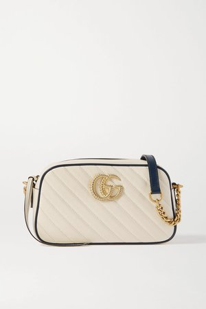 White GG Marmont Camera small quilted leather shoulder bag | Gucci | NET-A-PORTER