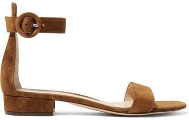 Portofino Suede Sandals - Brown
