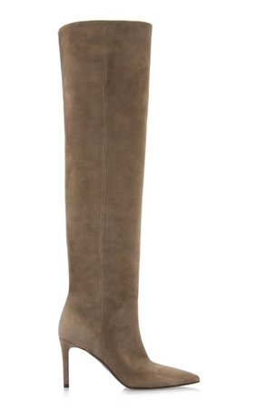 Suede Knee-High Boots By Prada | Moda Operandi