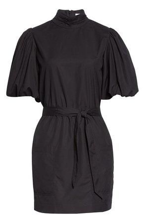FRAME Puff Sleeve Tie Waist Dress | Nordstrom