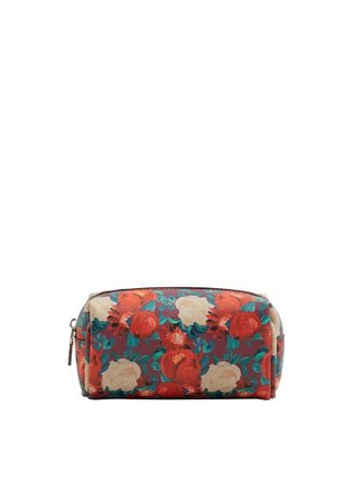Violeta BY MANGO Floral-print cosmetic bag
