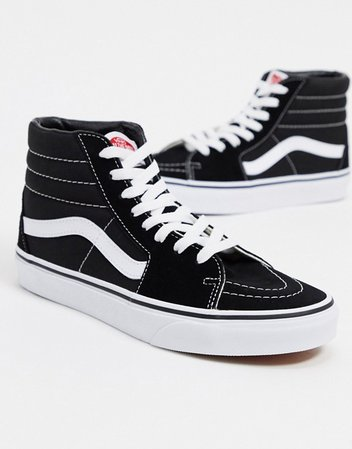 Vans SK8-Hi trainers in black and white | ASOS