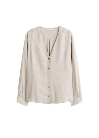 Violeta BY MANGO Flecked buttoned blouse