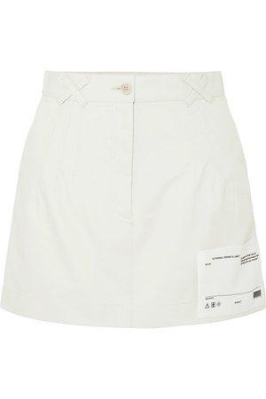 Off-White | Appliquéd cotton-canvas mini skirt | NET-A-PORTER.COM