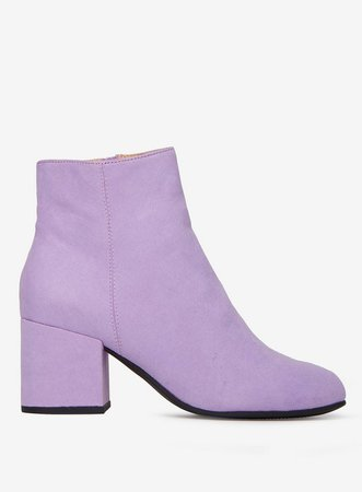 Lilac Microfibre 'Aubree' Ankle Boots