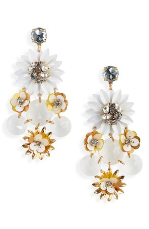 J.Crew Sequin Flower Earrings | Nordstrom