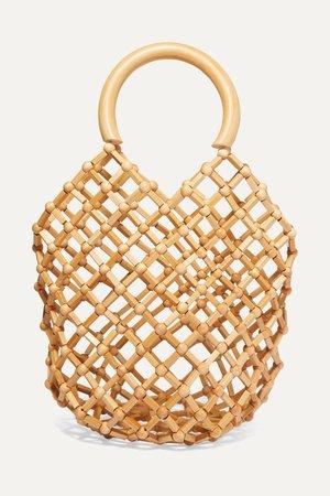 Beige Emmi bamboo tote | Cult Gaia | NET-A-PORTER