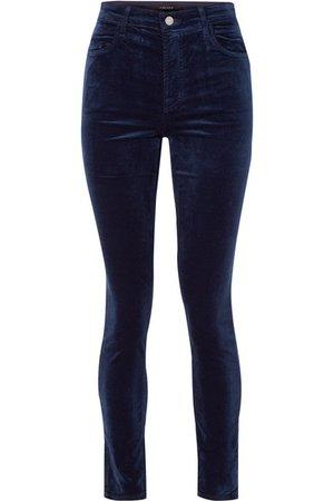 J Brand | Maria cotton-blend velvet skinny pants | NET-A-PORTER.COM