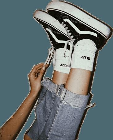 vans shoes legs feet aesthetic niche nichememe socks...