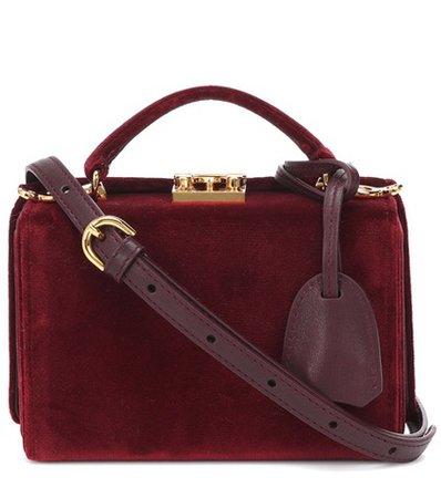 Grace Mini Box velvet shoulder bag