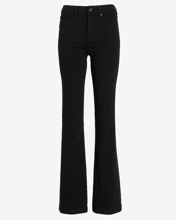 Mid Rise Black Bootcut Jeans