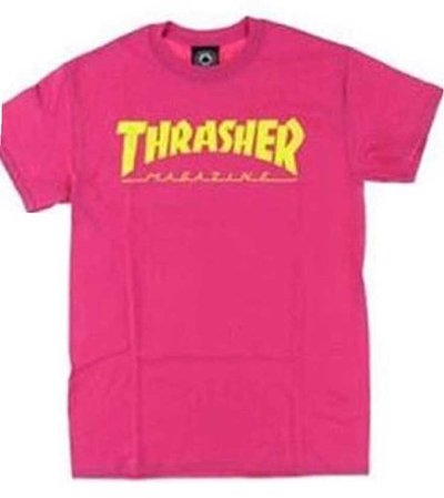 thrasher pink shirt
