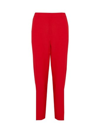 Red Ankle Grazer Trousers | Dorothy Perkins