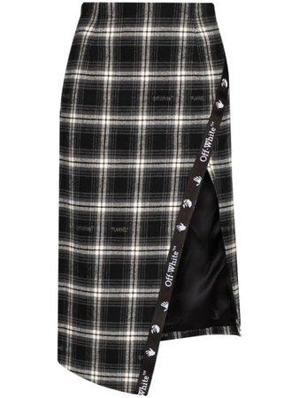 Off-White Plaid Skirt
