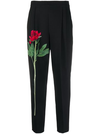 Boutique Moschino floral-print Cropped Trousers - Farfetch