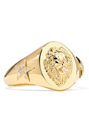 Foundrae Strength 18-karat gold diamond ring